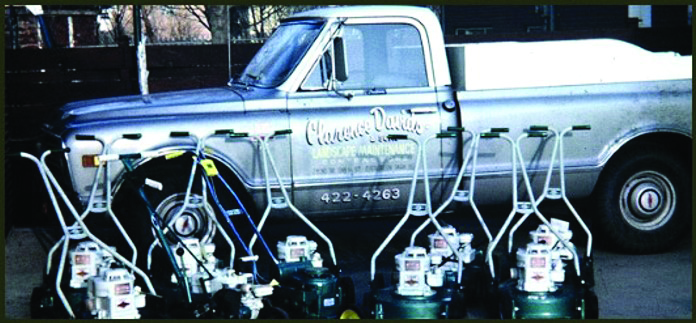 """Clarence Davids Sr. starts """"Clarence Davids & Sons Landscape Maintenance"""" out of his home in Evergreen Park"""